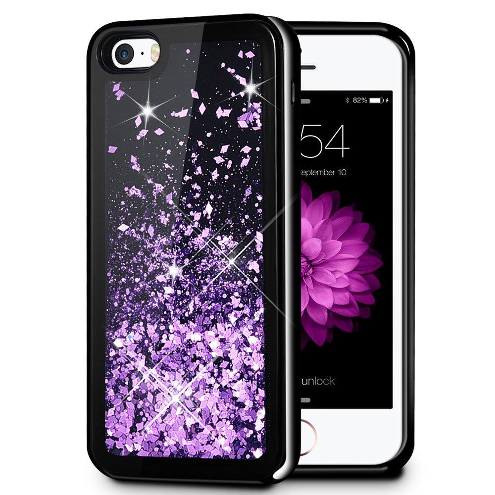 liquid glitter iphone 5 case with bumper amazon comiphone 5 5s se case, caka iphone 5s glitter case [starry night