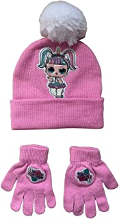 L.O.L Surprise Hat & Gloves ''Glow in The Dark'' Winter Accessories 2 Pieces Set for Girls