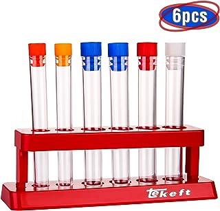 مجموعه TEKEFT از 6 مجموعه مجموعه تست پلاستیکی رنگی با کلاه و اسباب بازی های آزمایشگاهی علمی مخصوص کودکان