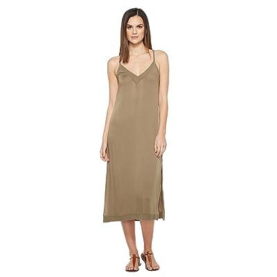 Michael Stars Romy Rayon Slip Dress (Olive Moss) Women