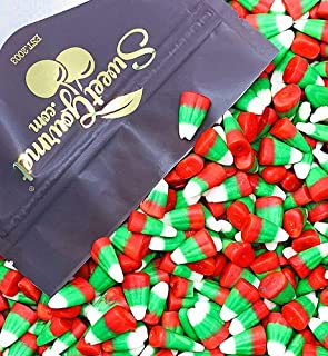 SweetGourmet Holiday Candy Corn Red, White & Green | Reindeer Corn | Bulk Christmas Candy | 2.5 pounds