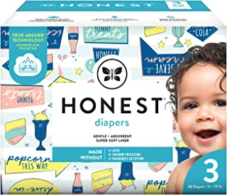 The Honest Company The Honest Company Baby Diapers with True Absorb Technology, Drive-in, Size 3, 68 Count, 68 Count