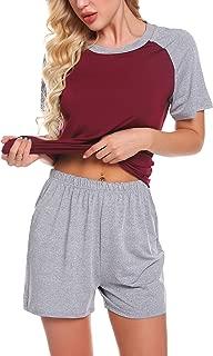 Chomoleza Women's Pajama Set Short Sleeve Sleepwear Nightwear Pjs Sets(S-XXL)