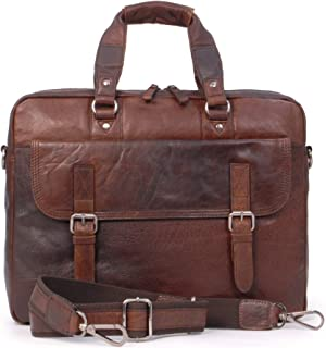 Ashwood Soft Vintage Leather Briefcase Laptop Messenger Bag - F83 - Work Office College University - Brandy