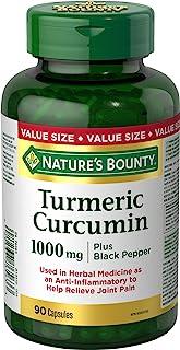 Nature's Bounty Turmeric Curcumin 1000mg Plus Black Pepper, 90 Capsules
