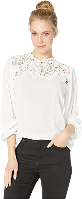 f7d291accdd48 Bishop + Young Swiss Dot Long Sleeve Blouse at Zappos.com