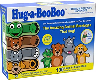 Sponsored Ad - Hug-a-BooBoo Premium Adhesive Kids Bandages –The Amazing Animal Bandages That Hug -100ct Box