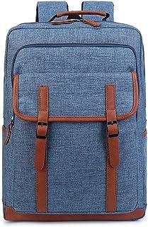 Computer Shoulders College Student Bag Computer Bag Leisure Travel Business Travel Male Fashion Trend Backpack QDDSP (Color : Blue)