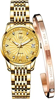 Automatic Watches for Women no Battery Original Mechanical Movement Bracelet Set Classic Luminous...