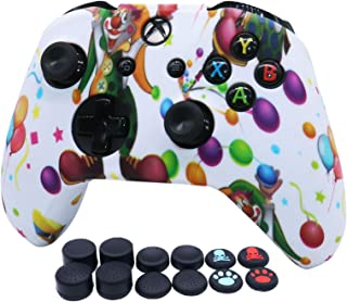 RALAN Controller Cover Silicone, Silicone Controller Cover Skin Protector Compatible for Xbox Ones Controller (Black Pro T...
