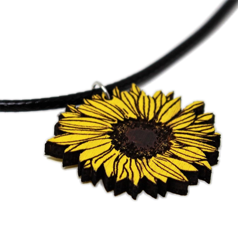 Sunflower Super intense SALE Choker Necklace Handmade Sun Flower Cheap mail order specialty store Pendant