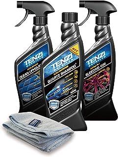 【徳用】テンジ 洗車・車内清掃 DIY3点セット(マイクロファイバークロス無料) [誰でも簡単カーケアセット] クオーツコーティングシャンプー+強力ホイールクリーナー+車内マルチクリーナー Tenzi Detailer AD-S1