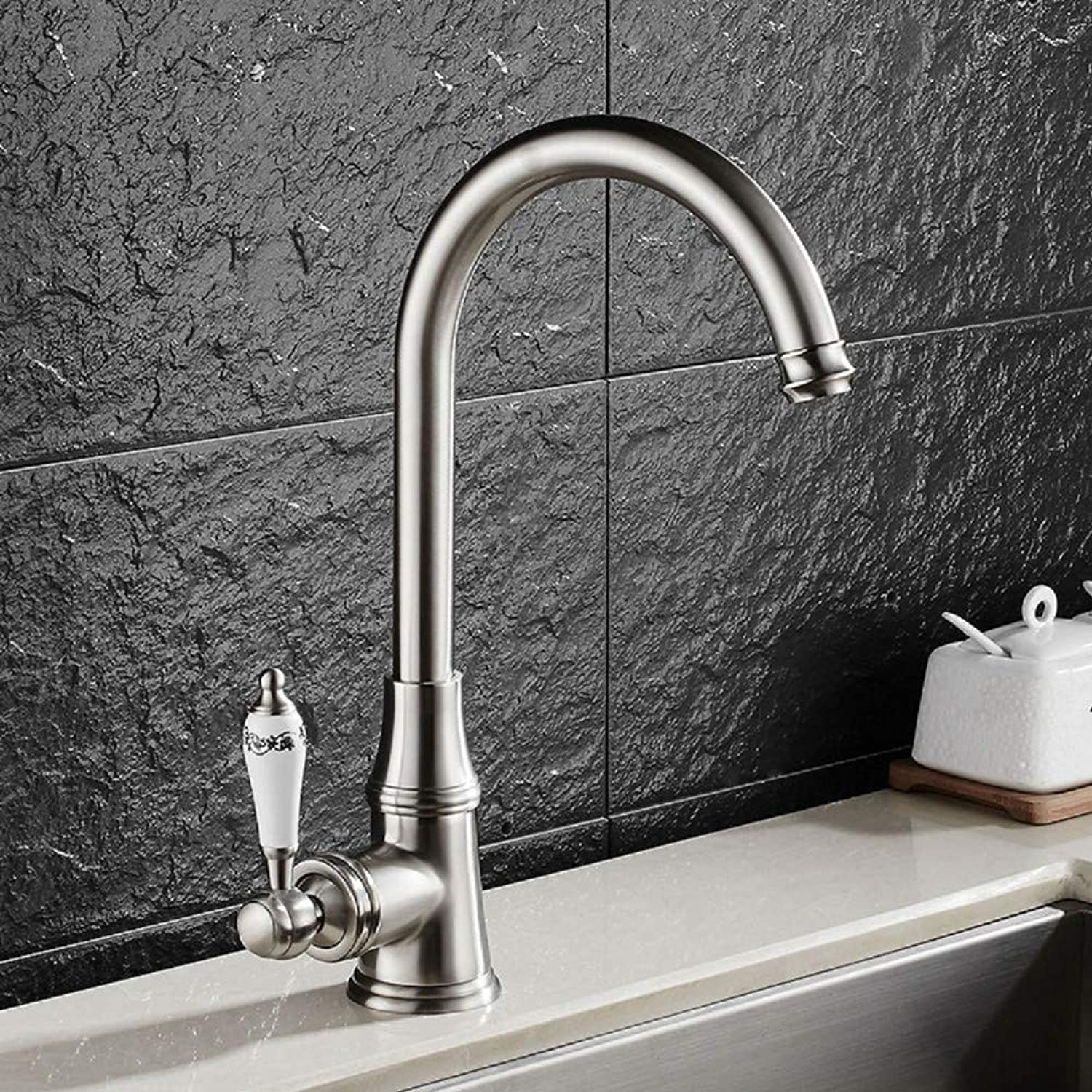 Kitchen Tap Faucet 360 ° redatable Kitchen Mixer Sink Mixer Single Lever Mixer Tap Kitchen Sink Faucet with Ceramic Handle Made of Brass Kitchen Taps Kitchen Sink Mixer Taps Basin Tap