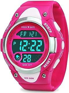 Digital montres pour filles cadeaux – Enfants Sports de plein air montre avec rétro-éclairage LED, 5 ATM étanche montre de...