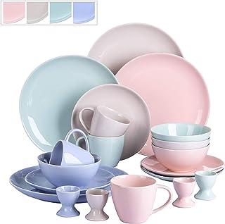 vancasso, série Victoria, Service de Table 20 pièces, pour 4 Personnes, Assiette Plate, Assiette à Dessert, Tasse, Bol cér...