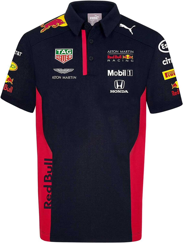 Red Bull Racing Official Teamline Camisa Polo, Niños 110 Camiseta Manga Corta - Ropa Original