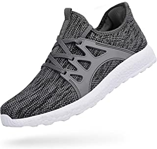 ZOCAVIA Men's Non Slip Work Shoes Ultra Lightweight Breathable Mesh Tennis Running Walking Athletic Sneakers