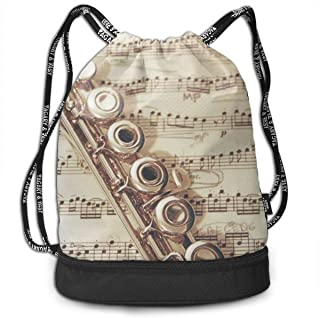 Traveling Swim Gym Beam Bag Flute Music Beam Backpack Basketball, Volleyball, Baseball String Bag For Boys Teens Youth, Waterproof Backpack