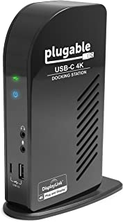 Plugable USB-C 4K Triple Display Docking Station with Charging Support for Specific Windows USB C and Thunderbolt 3 System...