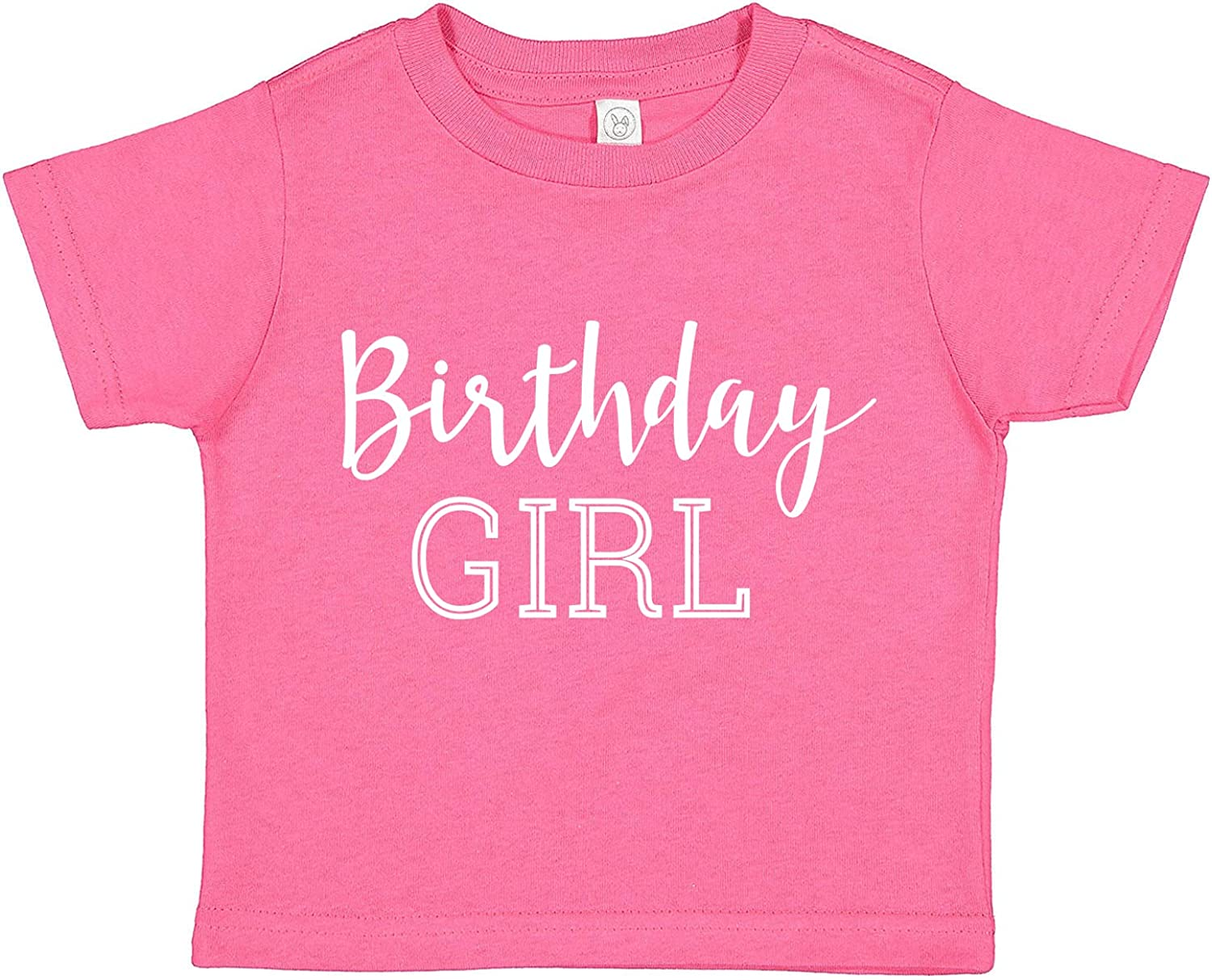 Tees & Tails Birthday Girl Baby Tee Shirt Assorted Colors (6M 12M 18M 24M)
