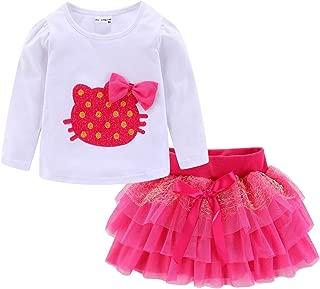 LittleSpring Little Girls' Skirt Sets Lace Flower