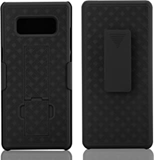 Speira Holster Kickstand Case Compatible with Samsung Galaxy Note 8 with Locking Belt Swivel Clip [Chain Pattern]
