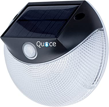 Quace Motion Activated with Inbuilt Double Mode - Warm White + Cool White Garden Solar Light - Upto 3 Nights Illumination on
