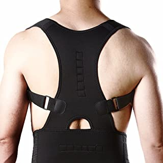 Innovine Posture Corrector for Men with Back and Shoulder Brace - Back Straightener Corset with Supports for Women's Back...
