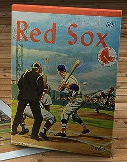 1960 Vintage Boston Red Sox Program - Canvas Gallery Wrap - 11 x 14