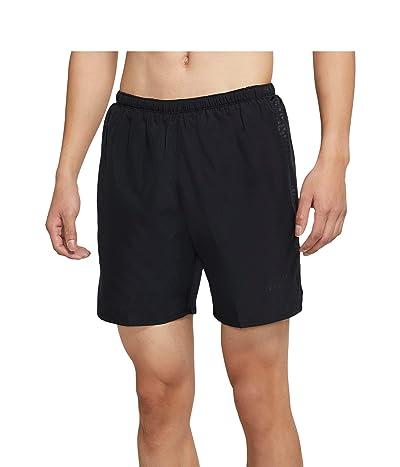 Nike Run Dvn Challenger Shorts 7 Brief Graphic (Black/Black/Black Reflective) Men