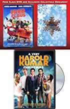 Santa's brother Naughty Ornament Exclusive Fred Claus Snowflake + DVD Movie Holiday Bundle Modern Classic Comedy Double Feature A Very Harold & Kumar Christmas Holiday Pack