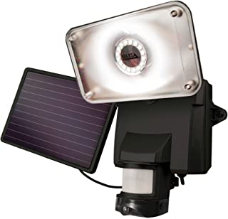 MAXSA Innovations 44642-CAM-BK 10.50in. x 8.50in. x 10.50in. Maxsa Motion-Activated Solar Security Camera and Floodlight-Black