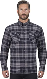 Viking Cycle Motorcycle Flannel Shirt for Men (Small) Black