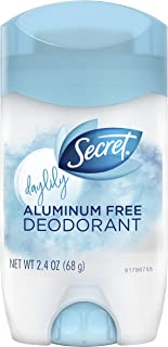 Secret Antiperspirant and Deodorant for Women, Aluminum Free Invisible Solid, Daylily Scent, 2.4 Oz (Pack of 12)