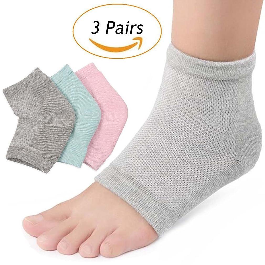 ロバ理論うがいLOVART'S BEAUTY かかと靴下 指なし つるつるソックス かかとカバー メッシュ ケア 美脚 3足セット