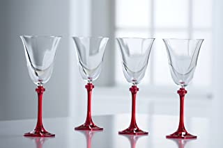 Galway Crystal Liberty Goblets (Set of 4), Clear/Red