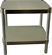 PVIFS A182424-2 Equipment Stand with 2 Adjustable Solid Shelves, 400 lbs Shelf Capacity, 24