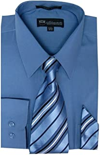 Men's Dress Shirt with Tie/Handkerchief HLSG21A New York Brand