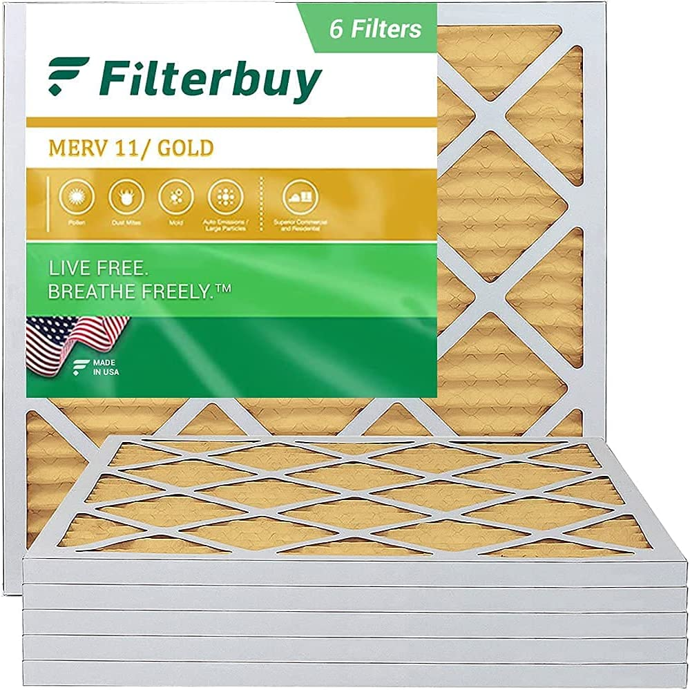 FilterBuy 10x10x1 New popularity Air Filter MERV Beauty products 11 AC Pleated Fi HVAC Furnace