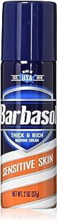 Barbasol Sensitive Skin Thick and Rich Shaving Cream for Men, Travel Size, TSA Approved, 2 oz. (Pack of 24)
