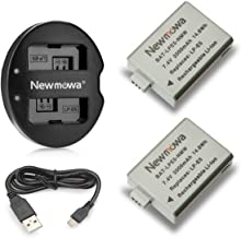Newmowa LP-E5 Replacement Battery (2-Pack) and Dual USB Charger for CanonLP-E5 and Canon EOS Rebel XS, Rebel T1i, Rebel XSi, 1000D, 500D, 450D, Kiss X3, Kiss X2, Kiss F