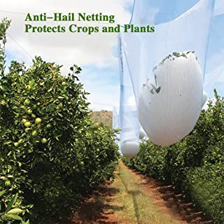 Agfabric Anti Hail Netting - Bird Netting Alternative - Protect Fruits and Plants from Hail Damage, Car Protection, 26.2ft. x 100ft.