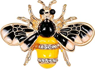 Mecool Bee Broches Faux Crystal Collar Cuff Pins Broche de Abeja broches Insecto Abeja