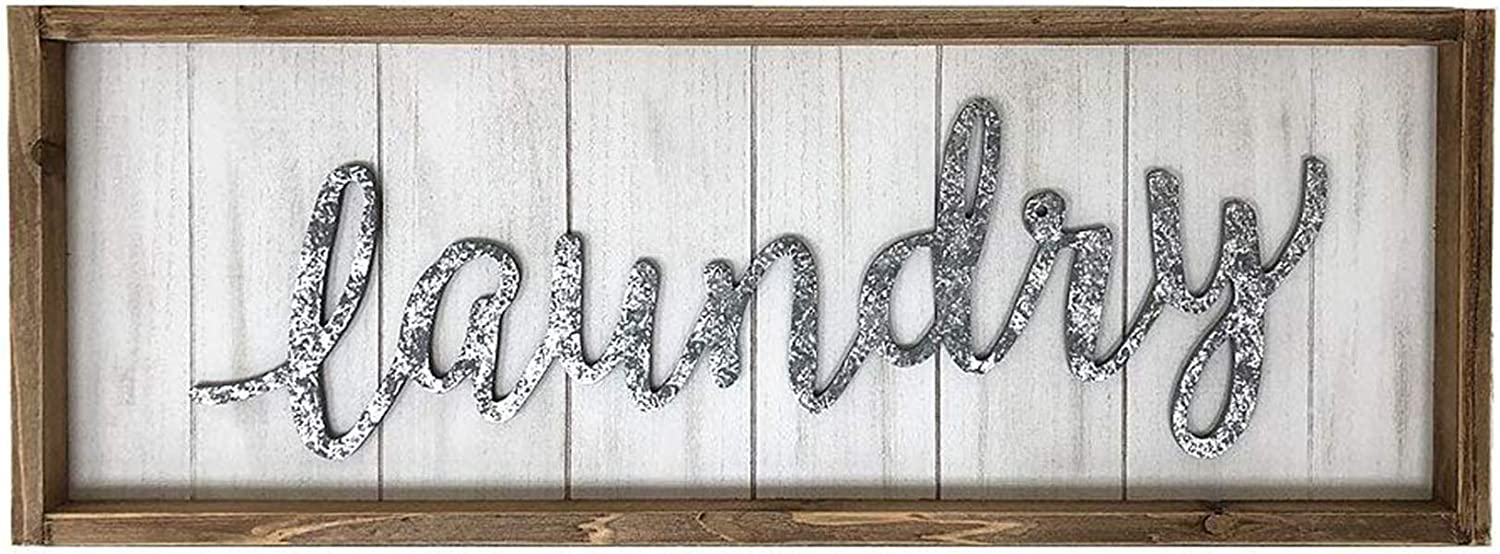 Antique Spring new work Laundry Wood Wall Sign Popular brand Fr for Vintage Room