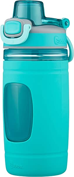 Bubba Flo Kids Water Bottle With Silicone Sleeve 16 Oz Aqua