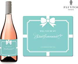 Will You Be My? - Set of 8 Bride & Co. Wedding Labels for Wine Bottle & Gift Box - Bridesmaid & Maid of Honor Proposal - Engagement Party - Bridal Shower