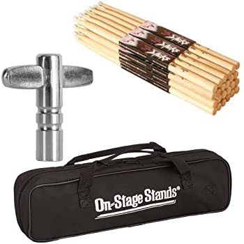 On Stage 12 Pair High Quality Maple Wood 5B Durable Drum Sticks with Wood Tip