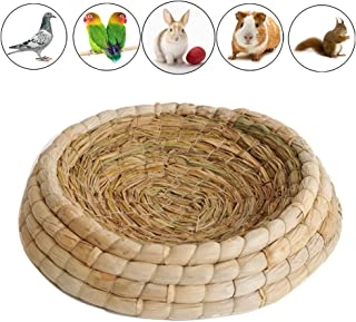 Gladot Pigeon Nesting Bowls Poultry Incubation Bed Courtship Breeding House for Pigeon/Dove/Bunny/Bird, Natural Material, 10x10x2.5 Inch