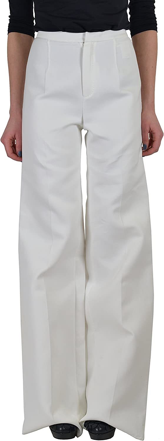 DSQUARED2 Women's White Flat Front Casual Pants US 4 IT 40
