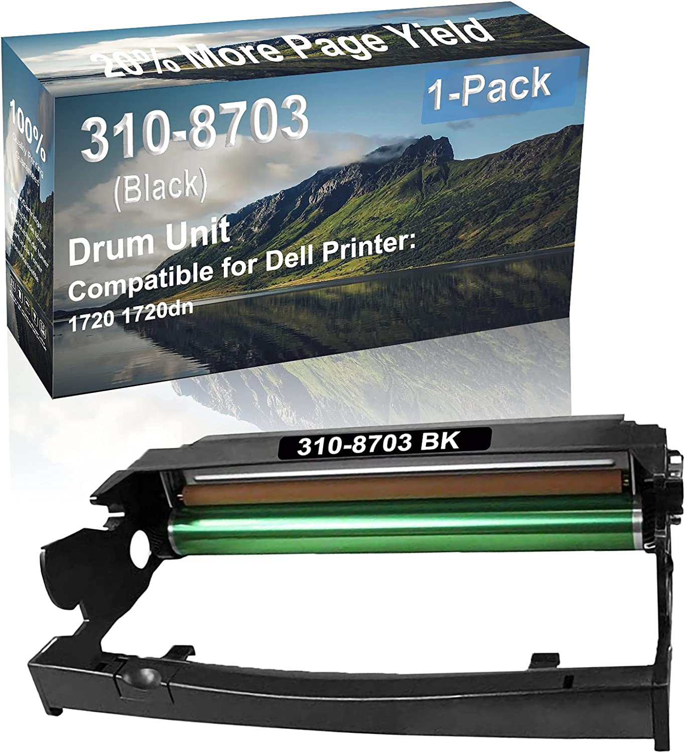 1-Pack Compatible 310-8703 Drum Kit use for Dell 1720 1720dn Printer (Black)